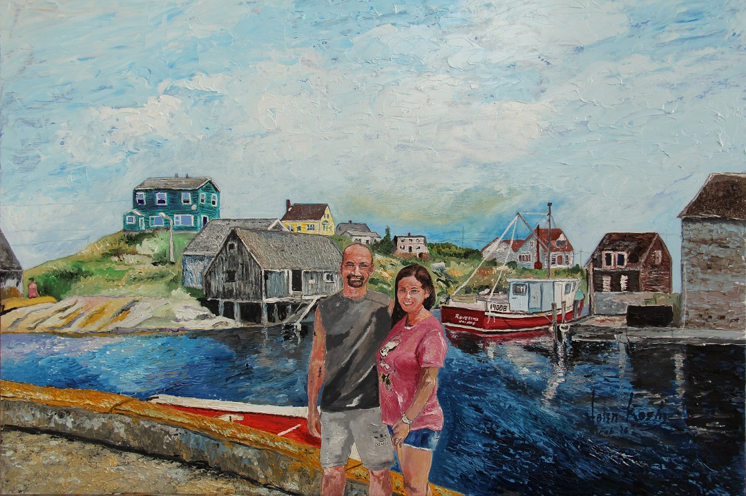 A beautiful couple at Peggy's Cove